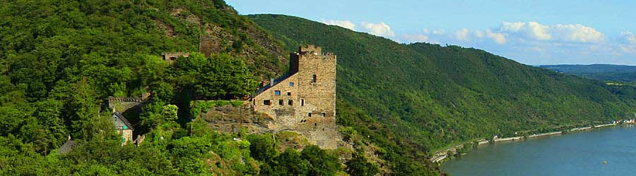 Hotel Castle Liebenstein Rhine River Map With Castles And - Rhine valley germany map