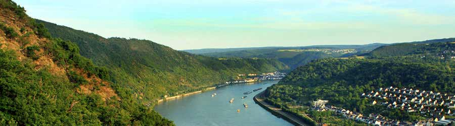View form Castle Liebenstein over the Rhine River Valley near the Loreley