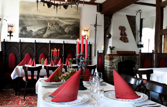 Restaurant in the knights' hall