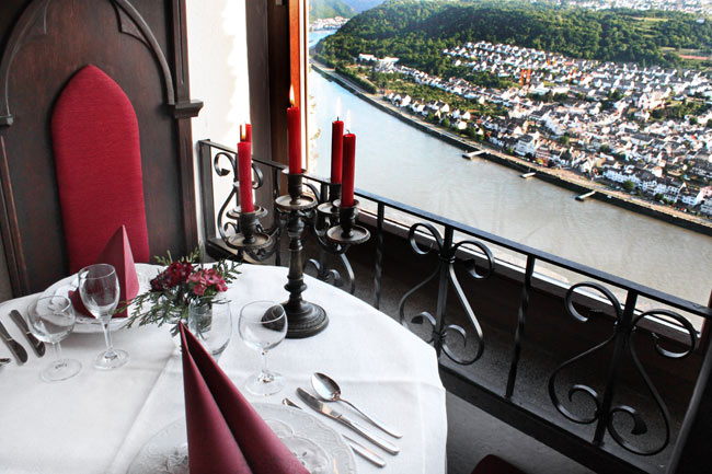 Rhine River view from the restaurant