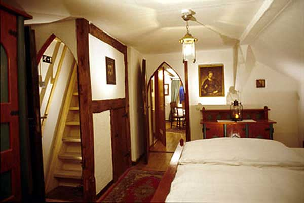 Bedroom of the Castle Suite at Hotel Castle Liebenstein